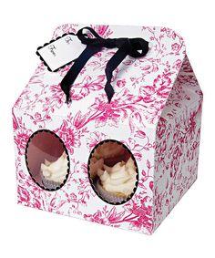 Toile Large Cupcake Box