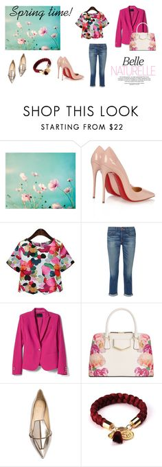 """""""Floral inspiration!"""" by tinita-sjm ❤ liked on Polyvore featuring Christian Louboutin, J Brand, Banana Republic, Calvin Klein and Jerome C. Rousseau"""