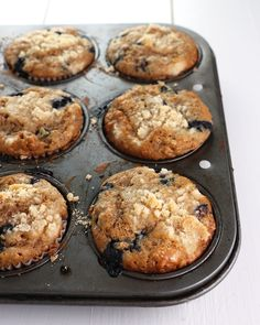 Blueberry Steel-Cut Oat Muffins a healthy and yummy way to kick off 2016!