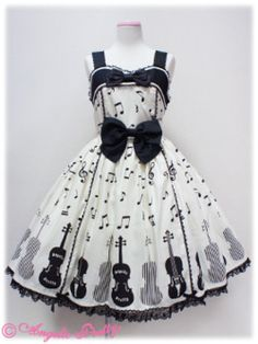 pretty dress, musical notes. Haha, I would sooo wear this to work if i could