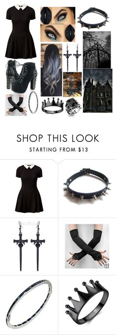 """""""💀Jinx💀 Bigger and Better Coven"""" by sam-golbachs-wife ❤ liked on Polyvore featuring Cameo Rose, WithChic and West Coast Jewelry"""