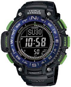 Casio Men's Triple Sensor Solar Digital Watch - SGW1000-2BCF
