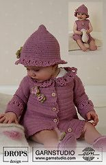 Ravelry: b14-5 Cardigan, hat and shoes pattern by DROPS design  free