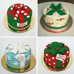 Cake decorating may be a superb interest and is a terrific way to express your imagination. Cake decorating can be a great deal of fun and quite rewarding, even if you believe that you enjoy it well enough it's possible to turn into a Mini Christmas Cakes, Christmas Cake Designs, Christmas Cake Decorations, Christmas Sweets, Holiday Cakes, Christmas Cooking, Christmas Desserts, Christmas Present Cake, Xmas Cakes