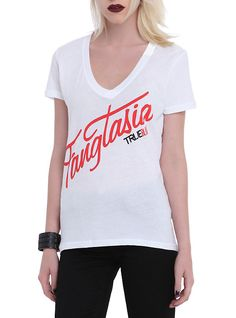 True Blood Fangtasia Girls V-Neck T-Shirt,