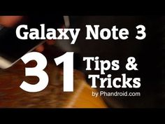 The Samsung Galaxy Note 3 is an absolute beast of a phone,but with so many features and settings, where do you start? Right here, where we zip through the top Galaxy Note 3 Tips & Tricks to get you started on the right foot. Galaxy Note 3, Galaxy S3, Samsung Note 3, Samsung Galaxy Phones, Know It All, Android Hacks, Phone Hacks, Samsung Mobile, View Video