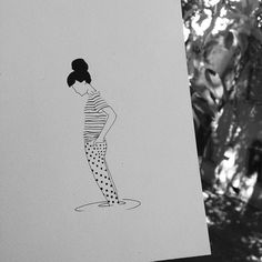 Keep on drawing  Woman in Nature by brusimoes
