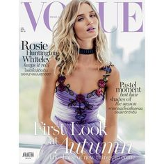 Rosie Huntington-Whiteley Models Statement Fashions in Vogue Thailand ❤ liked on Polyvore featuring magazine, backgrounds, pictures, magazine cover, phrase, quotes, saying and text