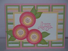 Circle Flowers by Lynnwoll - Cards and Paper Crafts at Splitcoaststampers
