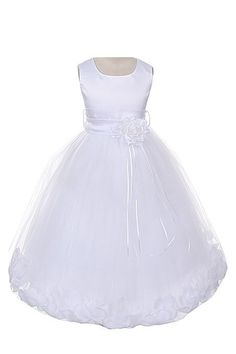 Kids Dream Satin Bodice Communion Flower Girl Pageant Petal Dress a460defb8b20