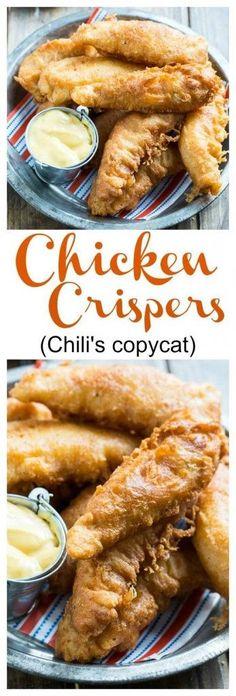 Copycat Recipes From Top Restaurants. Best Recipe Knockoffs from Chipotle, Starbucks, Olive Garden, Cinabbon, Cracker Barrel, Taco Bell, Cheesecake Factory, KFC, Mc Donalds, Red Lobster, Panda Express  | Chicken Crispers Chilis Copycat http://diyjoy.com/copycat-recipes