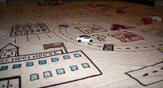 Filth Wizardry: Shower curtain village play mat