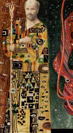 Golden Tarot of Klimt- V - The Heirophant