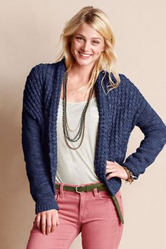 Women's Open Shawl Cardigan from Lands' End Canvas