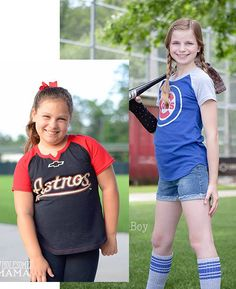A baseball-style tee the girls will love to wear! No boxy, shapeless tee here…