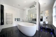 Woodview House - products include Artelinea Monolite, Muse & Zone Wall Hung Pans, Citterio Brassware and the Alessi Free Standing Bath.