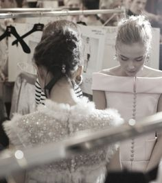 Backstage at Chanel Haute Couture Spring/Summer 2011