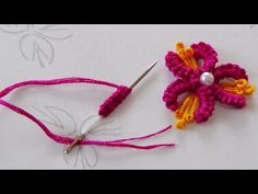 Hand Embroidery: Brazilian Embroidery/ Cast on Stitch/Buti Embroidery Brazilian Embroidery Stitches, Embroidery Stitches Tutorial, Hand Embroidery Patterns Flowers, Embroidery Designs, Embroidery Dress, Casting On Stitches, Crazy Quilt Blocks, Embroidery Supplies, Small Flowers