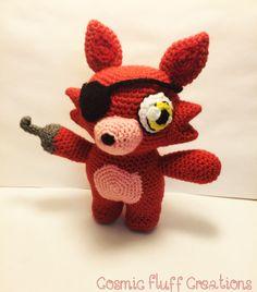 Foxy amigurumi from Five Night's at Freddy's!