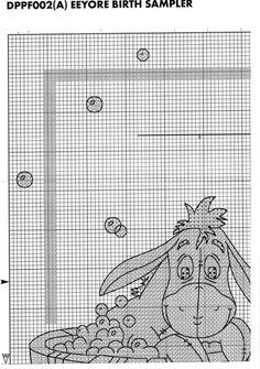 Eeyore birth sampler 2 of 5 Cross Stitching, Cross Stitch Embroidery, Embroidery Patterns, Cross Stitch Designs, Cross Stitch Patterns, Cross Stitch Fairy, Cross Stitch Boards, Ancient Egyptian Art, Tatty Teddy