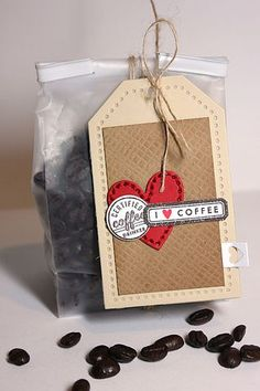 I Love Coffee Tag by Heather Nichols for Papertrey Ink (August 2013)