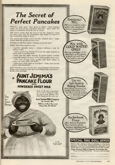 "WOW! and where would all us ""mammy"" cooks be with out good ole Aunt Jemima"
