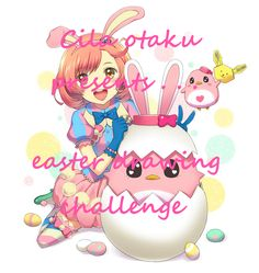 I'm here to announce a special Easter drawing challenge! To participate in this contest you just have to comment your favorite anime or cartoon character (but only 1 character, please)and your comment counts as an entry ( please say what anime or cartoon it is). For more information read lhe comments.