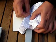 how to fold book pages