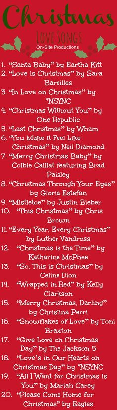 Cuddle up with the one you love and listen to this collection of Christmas LOVE songs.