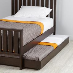 Our Cargo Trundle Bed (Java) features simple lines, giving it a timeless look that can coordinate with nearly any style. Shop for trundle beds today. | The Land of Nod