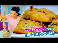 Galletas con chips de chocolate - YouTube Chefs, Meat, Youtube, Food, Chocolate Chip Cookies, Cooking, Recipes, Beef, Meal
