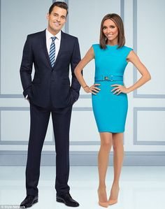 """""""Big stars: The couple are the stars of popular Style Network programme the Guiliana Rancic and Bill Show."""""""