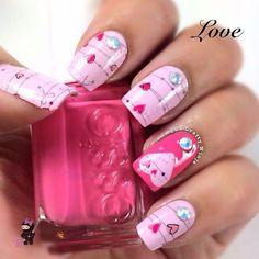 Uñas  Nails  rosadas