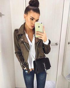 Perfect Green Leather Jacket - Iva Nikolina Juric (ivanikolina)