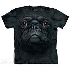 The Mountain Black Pug Face T-Shirt