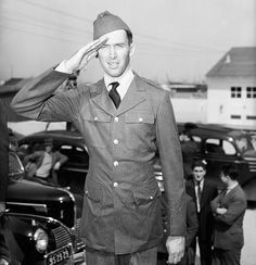 Jimmy Stewart, The actor had to eat himself into his role in the U.S. Army in 1941. He was underweight when he was first classified. He became the first major movie star to wear a military uniform in World War II.
