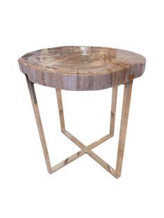 Homenature petrified wood table