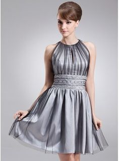 Homecoming Dresses - $140.99 - A-Line/Princess Scoop Neck Knee-Length Tulle Homecoming Dress With Ruffle Beading  http://www.dressfirst.com/A-Line-Princess-Scoop-Neck-Knee-Length-Tulle-Homecoming-Dress-With-Ruffle-Beading-022020684-g20684