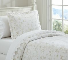 my fave for kids  Fairy Dreams Toile Duvet Cover with sweet woodland scenes | Pottery Barn Kids