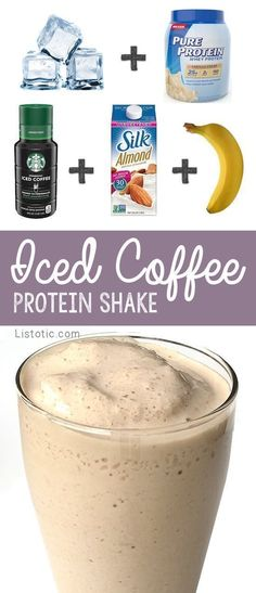Healthy Iced Coffee Breakfast Protein Shake Recipe For Weight Loss #WeightLossDiets