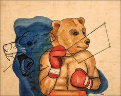 Boxing Bear - acrylic on wood Marie-Helene Pierre © Bear Paintings, Original Paintings, Boxing Tattoos, Painted Boxes, Creative Art, Scooby Doo, Saatchi Art, My Arts, Wood