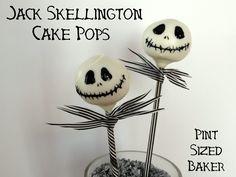 Pint Sized Baker: Jack Skellington Cake Pops. For Haley.