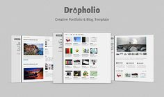 Today we give away the homepage PSD of Dropholio – Creative Portfolio & Blog Template.