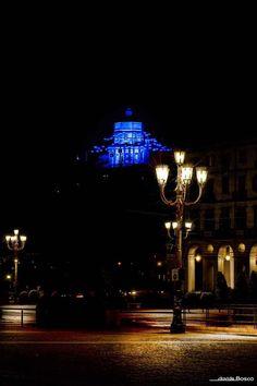 Monte dei Cappuccini ... blu per Luci d'Artista - Turin - Italy - Artist's Lights for Christmas