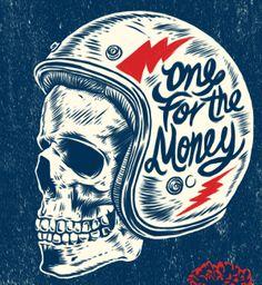 Skulls on Behance Bike Poster, Scratchboard, Biker T Shirts, Sketch Inspiration, Motorcycle Design, Skull Design, Graphic Design Typography, Skull Art, Custom Art