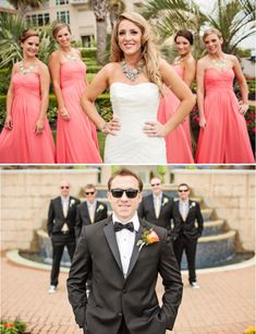 VIRGINIA BEACH WEDDING, Macon Photography, Style by Design, coral mint and gold wedding