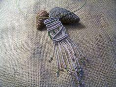 Micro Macrame  Necklace by MacramebyAthena on Etsy