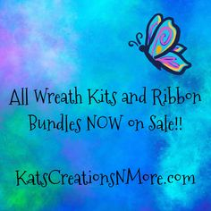Insane sale prices for wreath kits and ribbon bundles. From Football, to Beach to Christmas, these prices cant be beat for supplies and theyre ready to ship. If youre a Wreath Maker, this is a must see! Wreath Making Supplies, How To Make Wreaths, Ribbon, Football, Ship, Country, Beach, Christmas, Tape