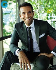 Suit inspiration. Proves it is easy to pull off a perfectly fitting grey suit. Of course It helps if you're as handsome as Bradley Cooper!