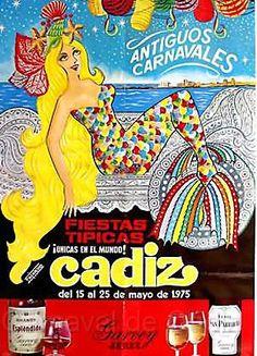 Cartel Carnaval de Cadiz año 1975